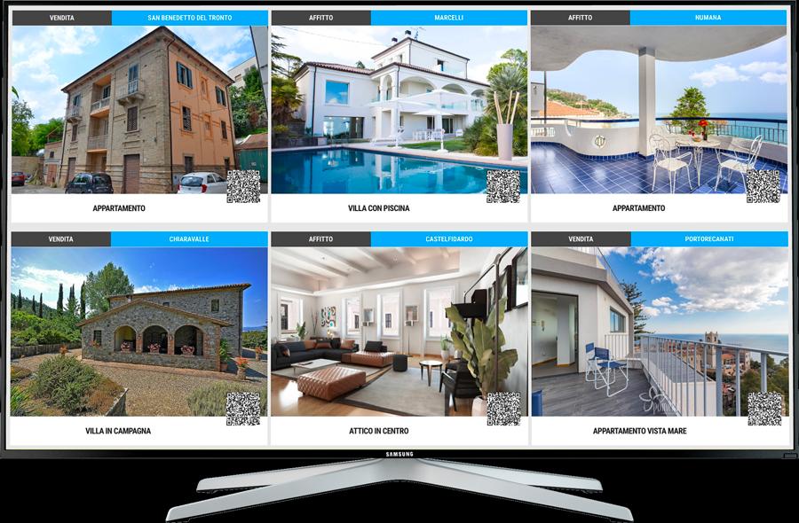 Digital signage settore immobiliare
